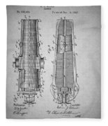 Antique Cannon Patent 1897 Fleece Blanket