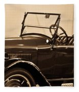 Antique Car In Sepia 1 Fleece Blanket