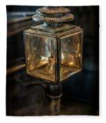 Antique Carriage Lamp Fleece Blanket