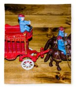 Antique Cast Iron Toy Fleece Blanket