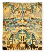 Antique Cutout Of Animals  Fleece Blanket