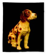 Antique Dog 3 Fleece Blanket