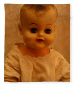 Antique Doll 1 Fleece Blanket