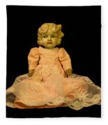 Antique Doll 2 Fleece Blanket