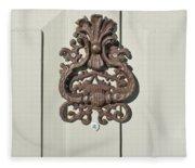 Antique Door Knocker Fleece Blanket