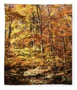 Antique Fall Fleece Blanket