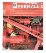 Antique Farmall Cub Engine Fleece Blanket