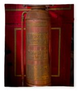 Antique Fire Extinguisher Fleece Blanket