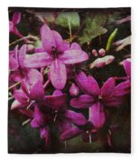 Antique Floral  Fleece Blanket