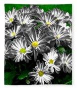 Antique Flowers Fleece Blanket