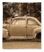 Antique Ford Car Sepia 1 Fleece Blanket