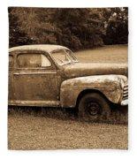 Antique Ford Car Sepia 4 Fleece Blanket