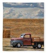 Antique Ford Truck Fleece Blanket