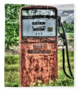 Antique Gas Pump 1 Fleece Blanket
