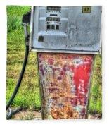 Antique Gas Pump 3 Fleece Blanket