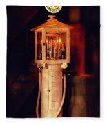 Antique Gasoline Pump Fleece Blanket