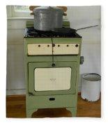 Antique Green Stove And Pressure Cooker Fleece Blanket