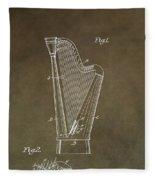 Antique Harp Patent Fleece Blanket