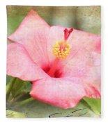 Antique Hibiscus Fleece Blanket