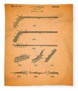 Antique Hockey Stick Patent 1935 Fleece Blanket
