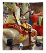 Antique Horse Cart Fleece Blanket