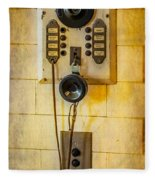 Antique Intercom Fleece Blanket
