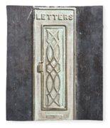 Antique Letter Pox Fleece Blanket