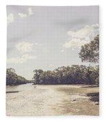 Antique Mangrove Landscape Fleece Blanket