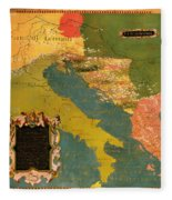Antique Map Of The Dalmatian Shore 1578 Fleece Blanket