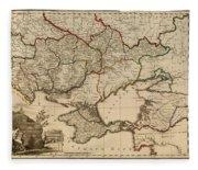 Antique Map Of The Russian Empire In Russian 1800 Fleece Blanket