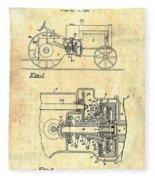Antique Massey-ferguson Tractor Patent 1935 Fleece Blanket