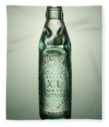 Antique Mineral Glass Bottle Fleece Blanket