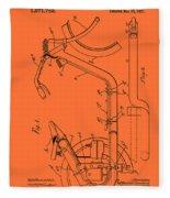 Antique Motorcycle Patent 1921 Fleece Blanket