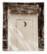 Antique Outhouse Fleece Blanket