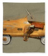 Antique Pedal Car L Fleece Blanket by Michelle Calkins