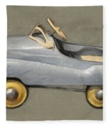 Antique Pedal Car Ll Fleece Blanket by Michelle Calkins