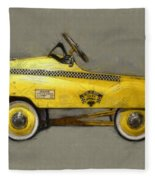 Antique Pedal Car Lll Fleece Blanket by Michelle Calkins