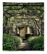 Antique Pergola Arbor Fleece Blanket