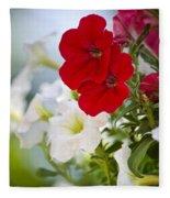 Antique Petunia Flowers Fleece Blanket