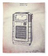Antique Phonograph Cabinet Patent Fleece Blanket