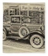 Antique Pickup Truck Fleece Blanket