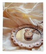 Antique Pocket Watch Fleece Blanket