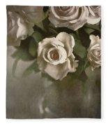 Antique Roses Fleece Blanket