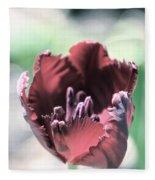 Antique Ruby Tulip Fleece Blanket