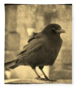 Antique Sepia Crow Fleece Blanket