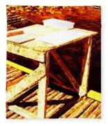 Antique Splitting Table Fleece Blanket