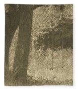 Antique Swing Fleece Blanket