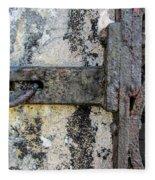 Antique Textured Metalwork Gate Fleece Blanket