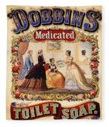 Antique Toilet Soap Ad - 1868 Fleece Blanket