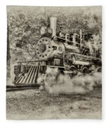 Antique Train Fleece Blanket